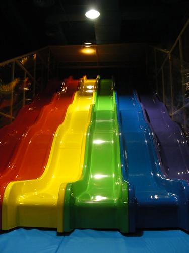 Indoor playground equipment new wave slide flickr for Indoor play slide