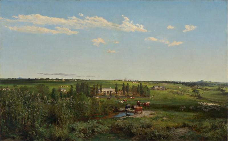 Louis Buvelot - 'Mount Fyans' homestead (1869)