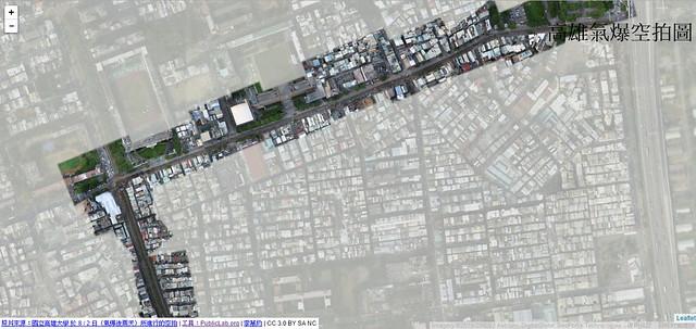 李慕約公司用MapKnitter組成的高雄氣爆地圖 照片提供:李慕約