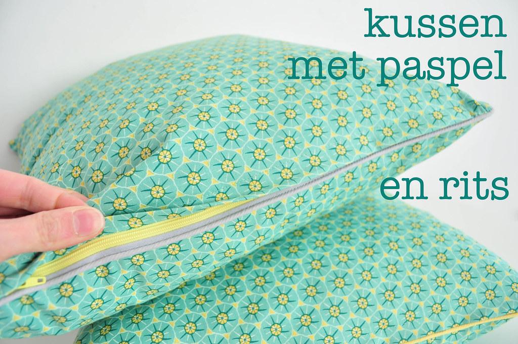 kussen met paspel en rits   Blogged   Oontje   Flickr