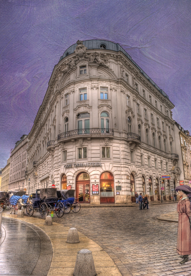 Vienna Cafe Griensteidl Cafe Griensteidl Overlooks St