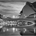 Sunset Reflections, City of Arts & Sciences, Valencia, Spain 3 Mono