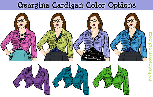 Georgina Cardigan Color Options: Which Yarn to Choose?! | by M1khaela