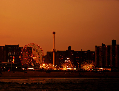 Coney Island Beach at Sunset - Brooklyn - New York City | by Vivienne Gucwa