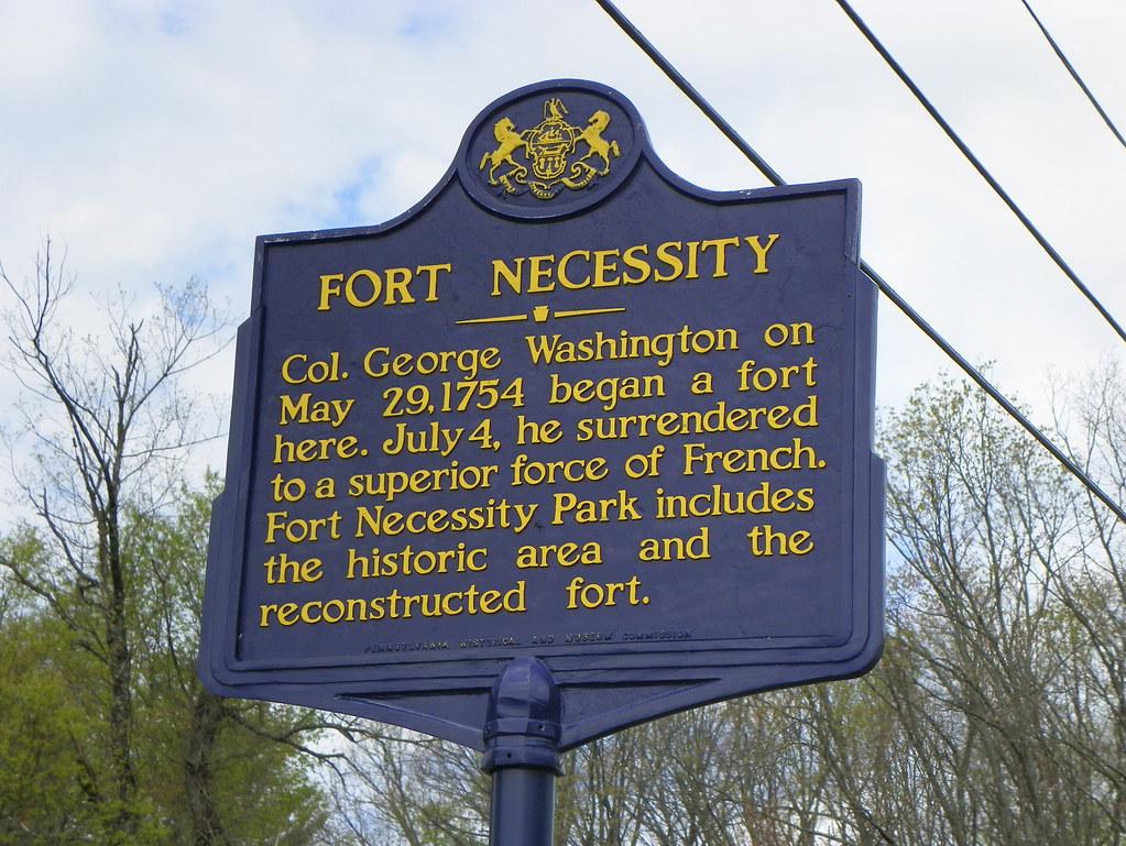 Fort Necessity Historical Marker Fort Necessity National