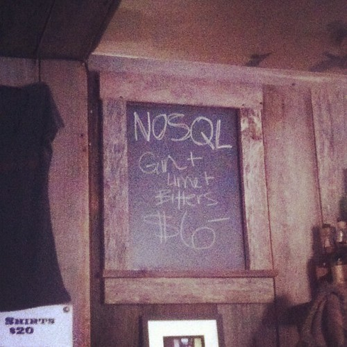 Nosql: the current drink special at bloodhound | by netik