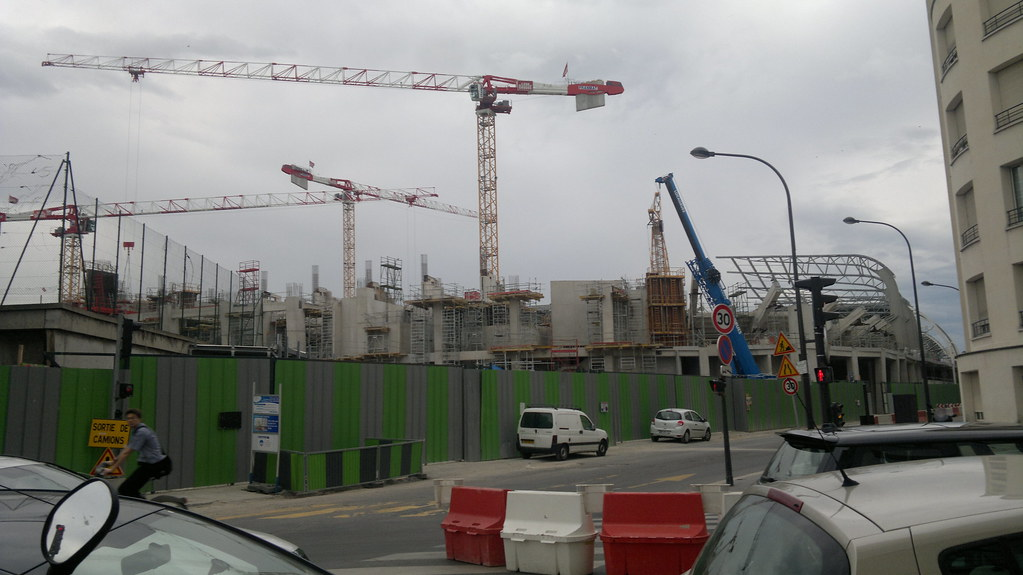 Attention travaux travaux du stade jean bouin porte for Porte 8 stade rades