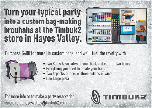 Custom Parties | by Timbuk2 Designs
