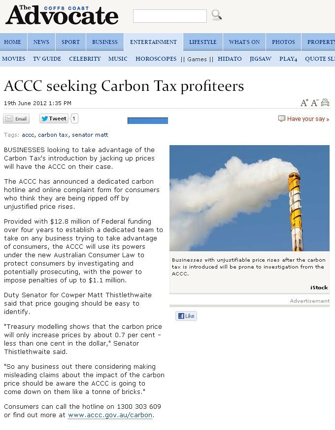 accc seeking carbon tax profiteers businesses    flickr