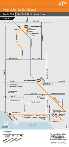 Bus 825 map | by Daniel Bowen