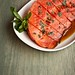 Sauteed watermelon with honey and mint