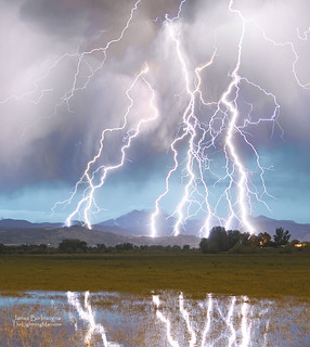 Massive Lightning Storm Striking Longs Peak Foothills 4C | by Striking Photography by Bo Insogna