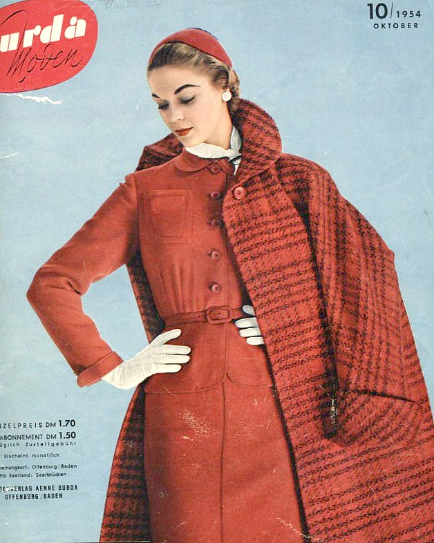 Jean Patchett on the cover of Burda Moden, Oktober 1954