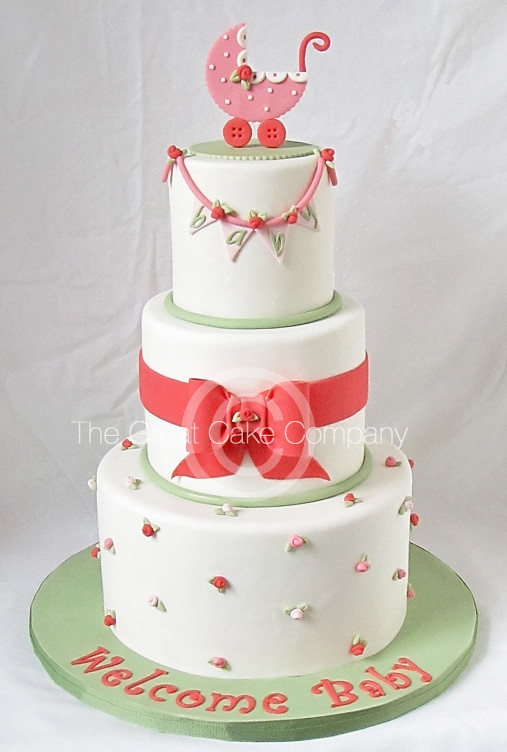 Rossette Baby Shower Cake This Was Made For A Couple In