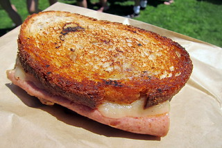 NYC - The Great GoogaMooga: M. Wells' Horse Bologna Foie Gras Grilled Cheese | by wallyg
