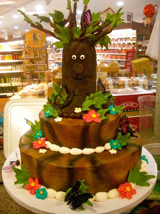 Enchanted Forest Birthday Cake A Sweet 16 Cake With An