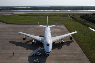 Shuttle Carrier Aircraft Arrives at Kennedy Space Center (KSC-2012-2004) | by NASA HQ PHOTO