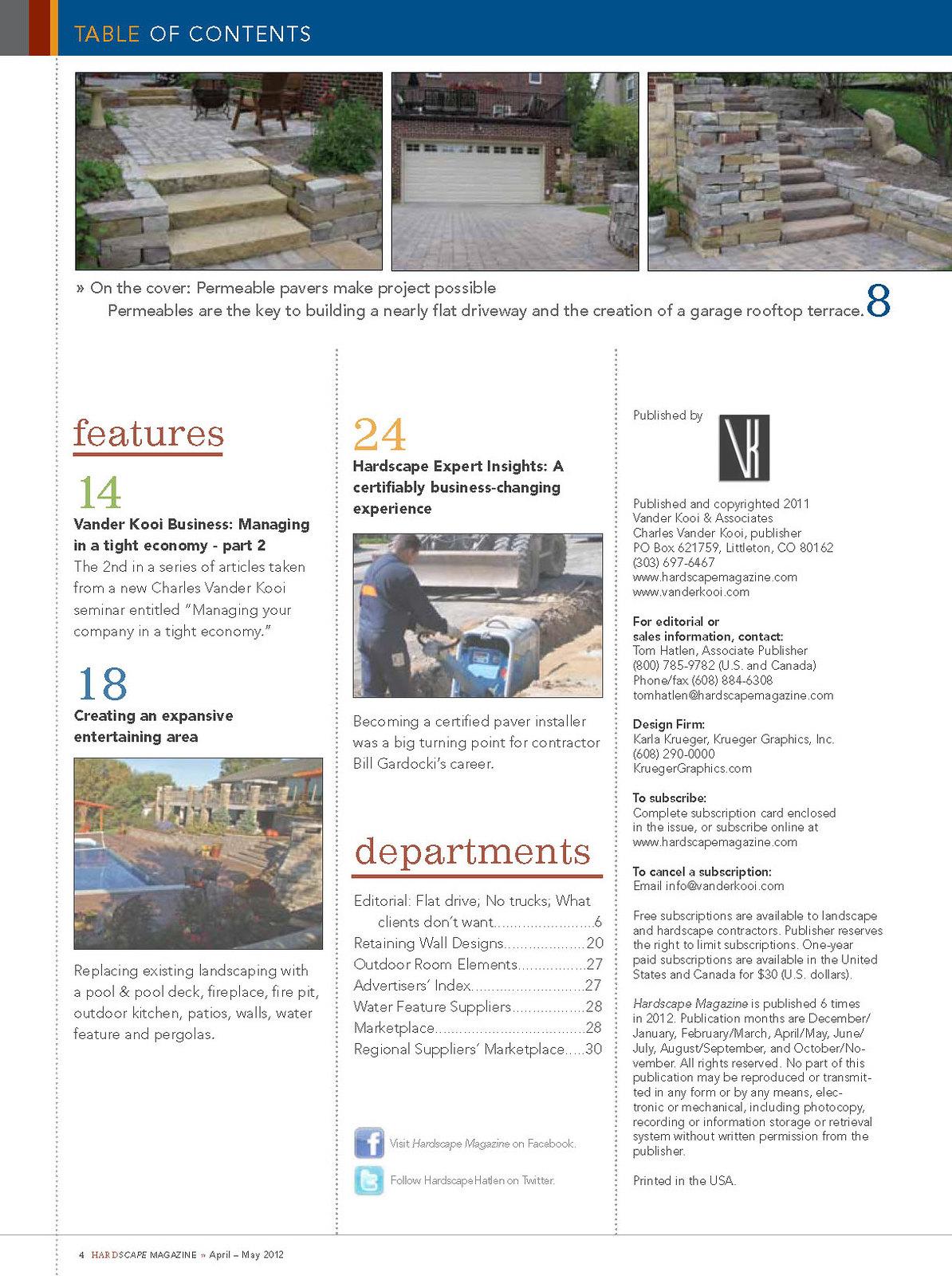 Landscape Hardscape Magazine Hardscape Magazine April-may