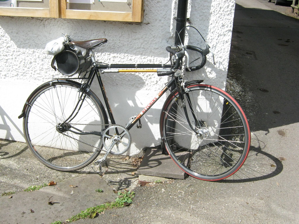 hetchins vintage touring bike propped against welsh border flickr. Black Bedroom Furniture Sets. Home Design Ideas