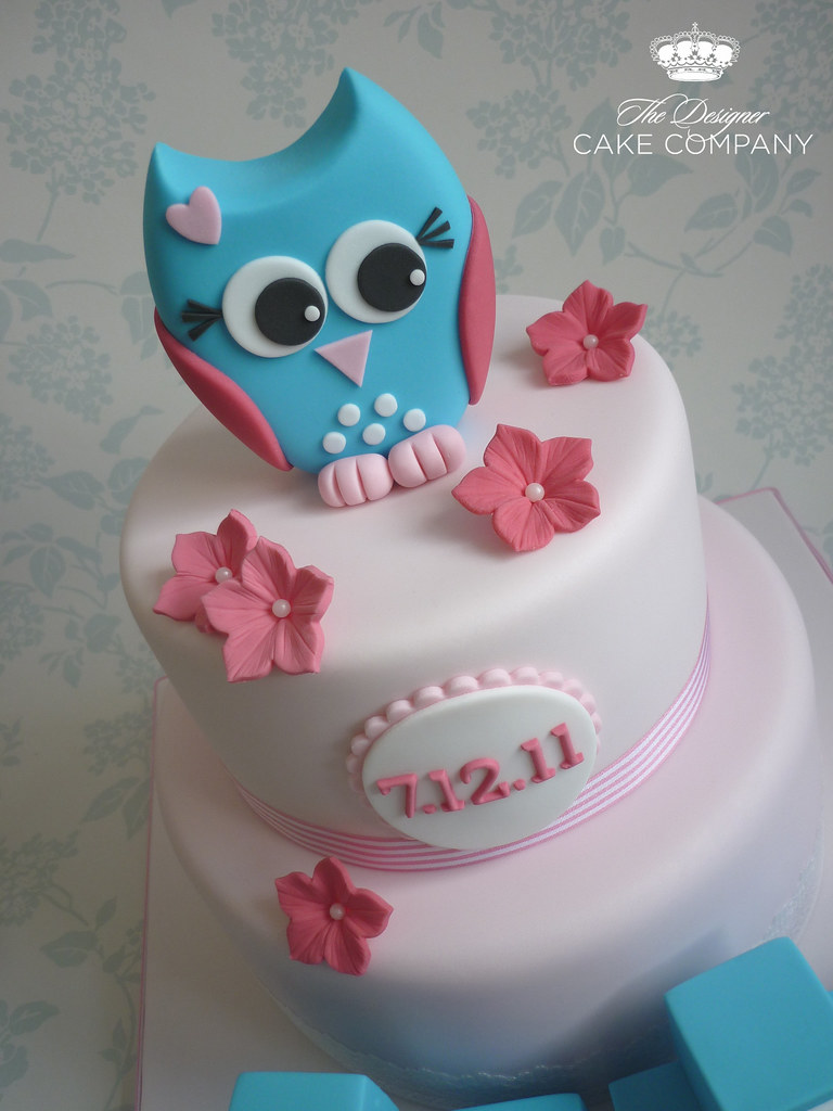 Owl Cake Topper Owl Is Handmade From Fondant Mixed With