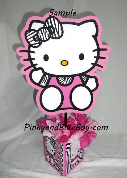 Zebra Hello Kitty Birthday Party Centerpieces Decorations Flickr