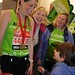 London Marathon Oxfam runners met by family.