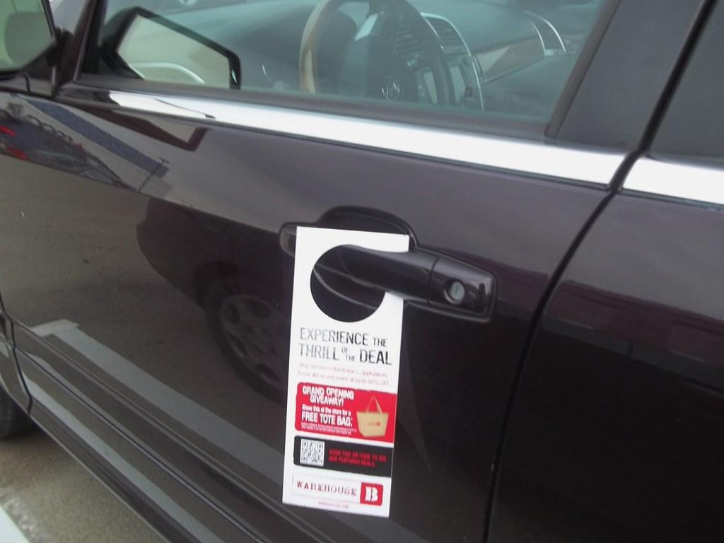 Car Door Hanger Flyer Advertising - ALT TERRAIN | ALT TERRAI… | Flickr