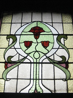 An Art Nouveau Stained Glass Lounge Window of Reid's Coffee Palace – Lydiard Street, Ballarat