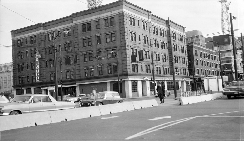 York Motor Hotel 1968 The York Motor Hotel At 790 Howe