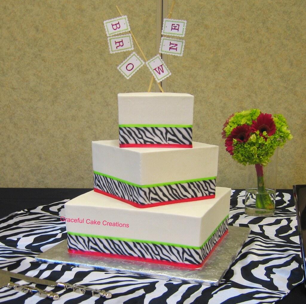 Zebra Print Cake Decorations