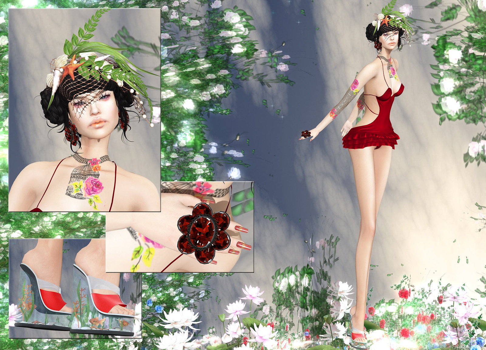 Carol G - Flowers & Bird Cage