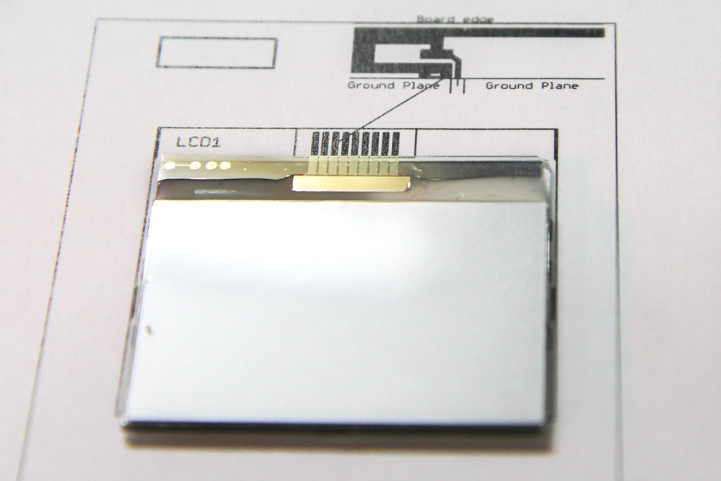 matching up the PCB footprint with the conductors on the LCD glass