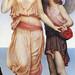 """Evelyn de Morgan (1855–1919), """"Venus and Cupid on the Seashore"""""""