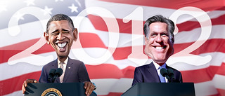 Obama vs. Romney 2012 | by DonkeyHotey