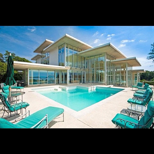 Big Houses With Swimming Pools: My Future #house #crib #mansion #glass #pool #water #big