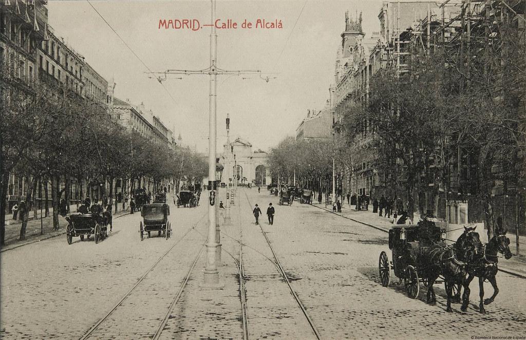 Madrid calle de alcal postales de madrid fotpia for Calle prado 9 madrid