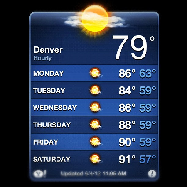 Perfect. #denver #colorado #summer #weather