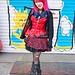Red & Black Fashion in Harajuku