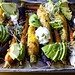 spiced roasted carrots with avocado and yogurt