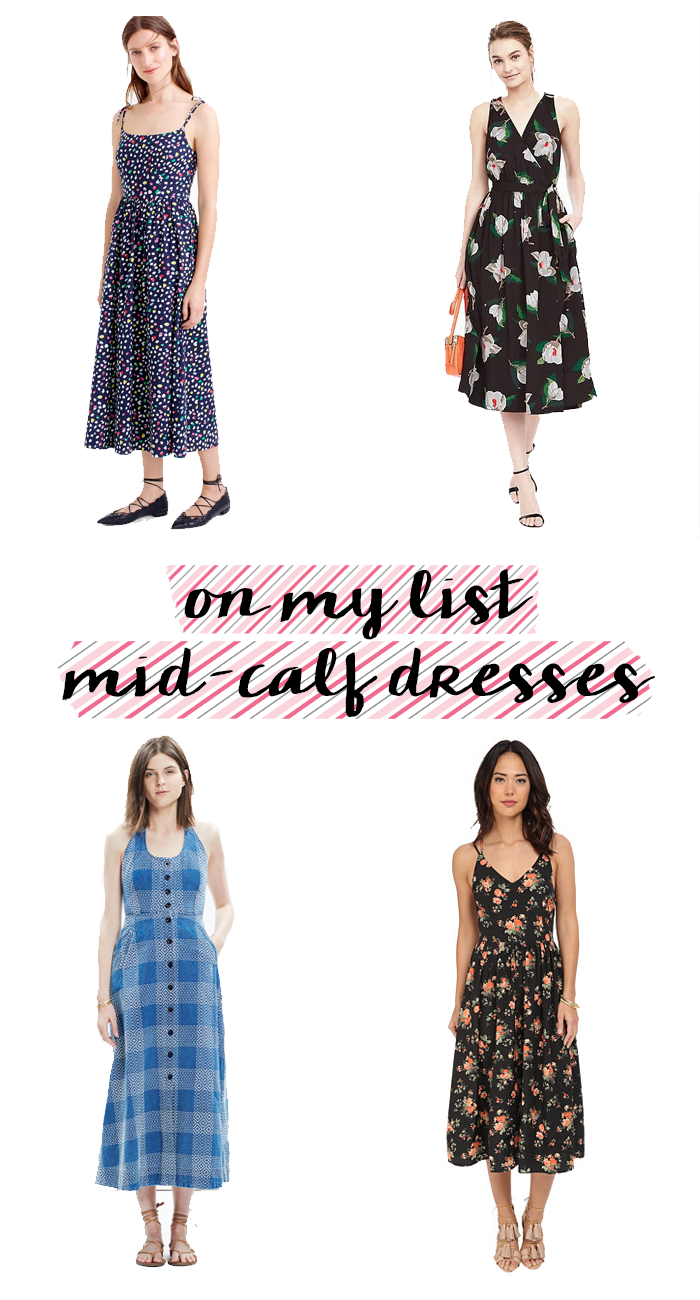 mid-calf dresses