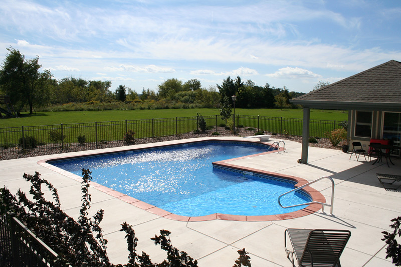 Swimming Pool Designing Services : Swimming pool services l shaped