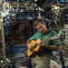 Weekend on ISS. Time for some beautiful guitar compositions from @astrocoastie, Commander Dan  Burbank.