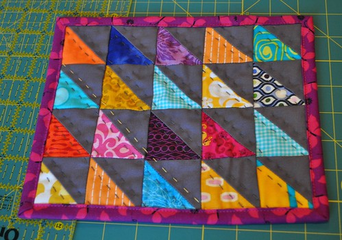 triangle mug rug finished | by vickivictoria