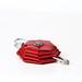 Red geometrical brooch