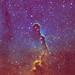 Hubble palette IC1396