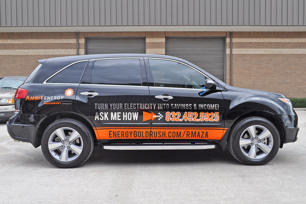 Ambit Energy >> Ambit Energy, Orange Reflective Vinyl and Chrome Lettering… | Flickr