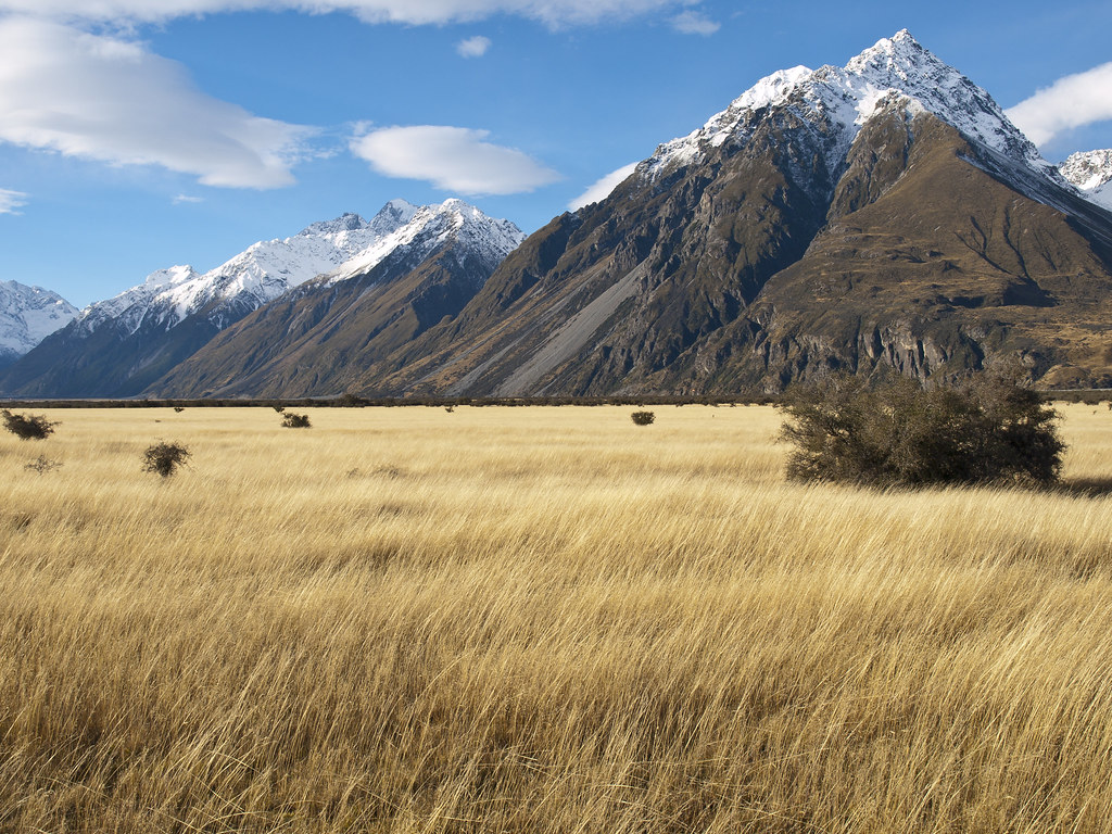 Mountain landscape new zealand mountain landscape near for Landscaping companies in new zealand