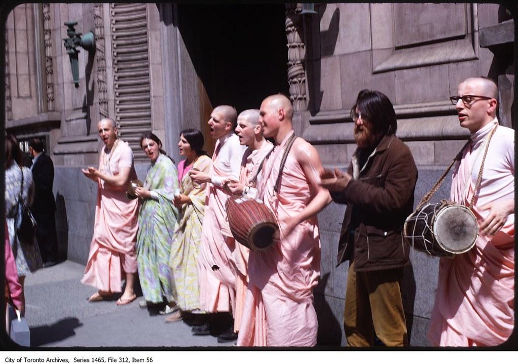 Hare Krishna followers, Yonge Street | Photographer: City ...