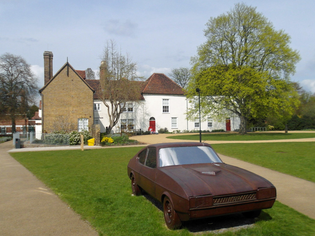Valence House A Bronze Ford Capri Parked Up Outside The