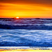 Sunset Colors Over Ocean Beach